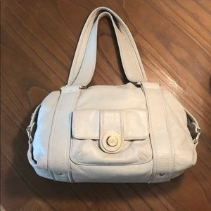 Light Beige Michael Kors soft leather shoulder bag